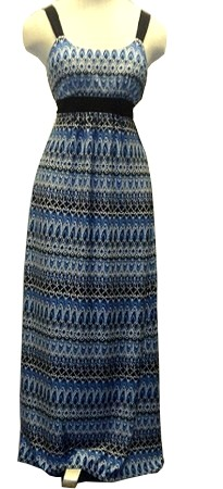 Blue Mosiac Maxi Dress