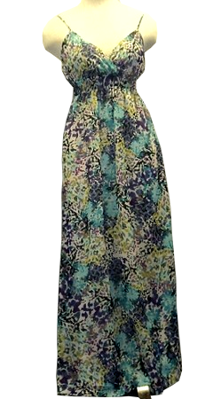 Multi Color Maxi Summer Dress