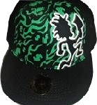 Black & Green Pychopathic Cap