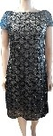 Black Sequin Dress w Nude Lining Size 8