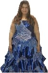 Blue Corset Quinceanera Dress