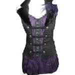 Purple & Black Striped  Corset